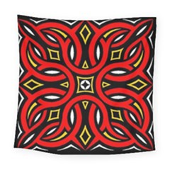 Traditional Art Pattern Square Tapestry (large)