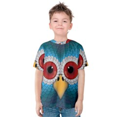 Bird Eyes Abstract Kids  Cotton Tee