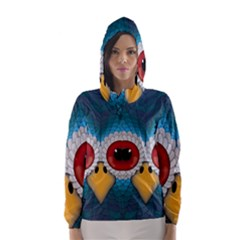 Bird Eyes Abstract Hooded Wind Breaker (women)