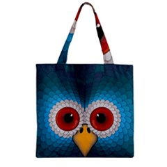 Bird Eyes Abstract Zipper Grocery Tote Bag