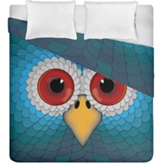 Bird Eyes Abstract Duvet Cover Double Side (king Size)