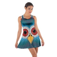 Bird Eyes Abstract Cotton Racerback Dress