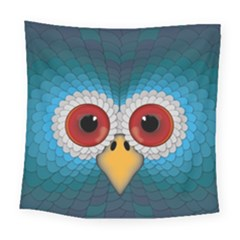 Bird Eyes Abstract Square Tapestry (large)