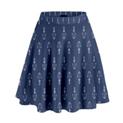 Anchor Pattern High Waist Skirt