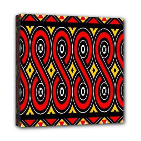 Toraja Traditional Art Pattern Mini Canvas 8  X 8