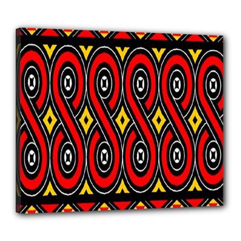 Toraja Traditional Art Pattern Canvas 24  x 20