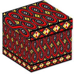 Toraja Traditional Art Pattern Storage Stool 12