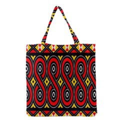 Toraja Traditional Art Pattern Grocery Tote Bag