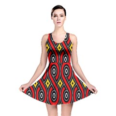 Toraja Traditional Art Pattern Reversible Skater Dress
