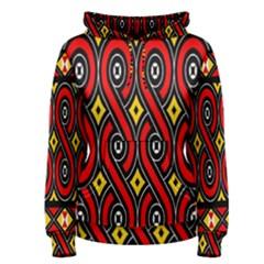 Toraja Traditional Art Pattern Women s Pullover Hoodie
