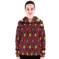 Toraja Traditional Art Pattern Women s Zipper Hoodie