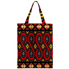 Toraja Traditional Art Pattern Zipper Classic Tote Bag