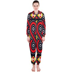 Toraja Traditional Art Pattern Hooded Jumpsuit (ladies)