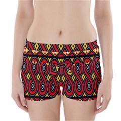Toraja Traditional Art Pattern Boyleg Bikini Wrap Bottoms