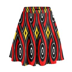 Toraja Traditional Art Pattern High Waist Skirt