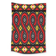 Toraja Traditional Art Pattern Large Tapestry