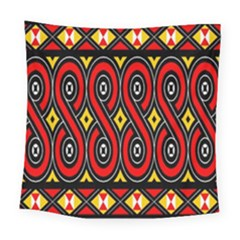 Toraja Traditional Art Pattern Square Tapestry (large)