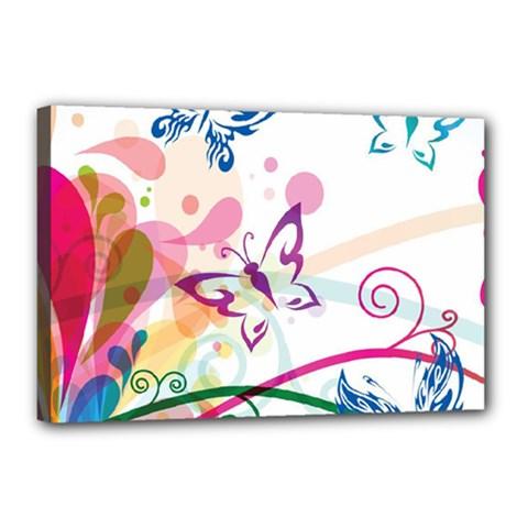 Butterfly Vector Art Canvas 18  x 12