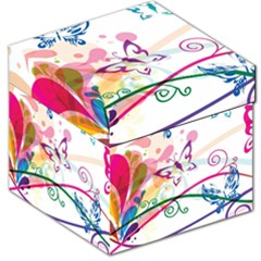 Butterfly Vector Art Storage Stool 12