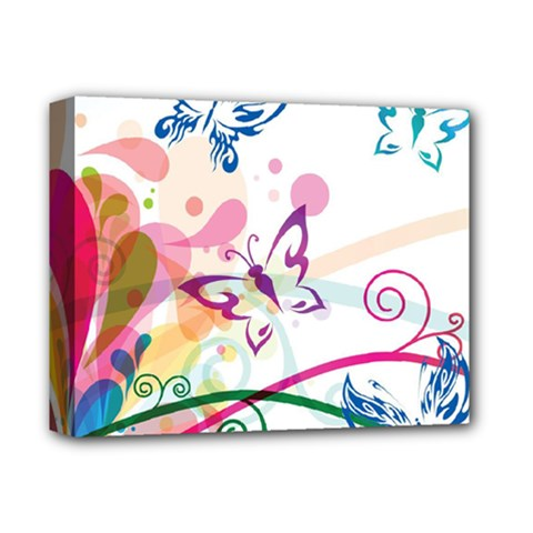 Butterfly Vector Art Deluxe Canvas 14  X 11