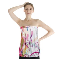 Butterfly Vector Art Strapless Top