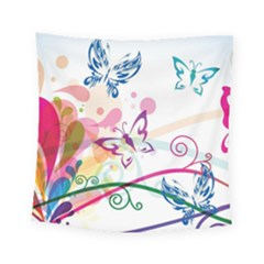 Butterfly Vector Art Square Tapestry (small)