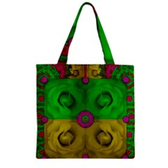 Roses Of Pure Love Zipper Grocery Tote Bag