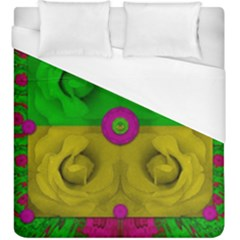 Roses Of Pure Love Duvet Cover (king Size)