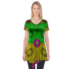 Roses Of Pure Love Short Sleeve Tunic