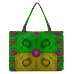Roses Of Pure Love Medium Zipper Tote Bag