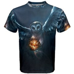 Owl And Fire Ball Men s Cotton Tee