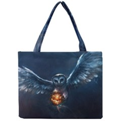 Owl And Fire Ball Mini Tote Bag