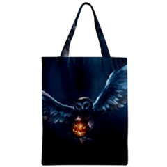 Owl And Fire Ball Zipper Classic Tote Bag