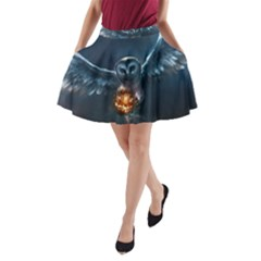 Owl And Fire Ball A-Line Pocket Skirt