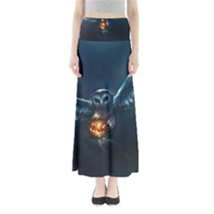 Owl And Fire Ball Maxi Skirts