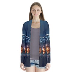 Owl And Fire Ball Cardigans