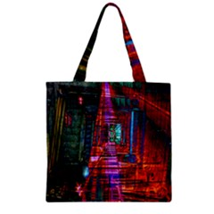 City Photography And Art Zipper Grocery Tote Bag