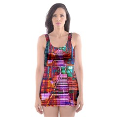 City Photography And Art Skater Dress Swimsuit