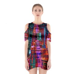 City Photography And Art Shoulder Cutout One Piece