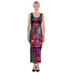 City Photography And Art Fitted Maxi Dress