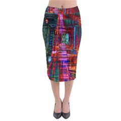 City Photography And Art Midi Pencil Skirt
