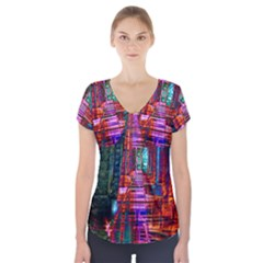 City Photography And Art Short Sleeve Front Detail Top