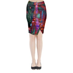 City Photography And Art Midi Wrap Pencil Skirt