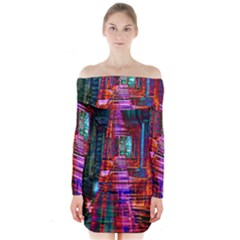 City Photography And Art Long Sleeve Off Shoulder Dress