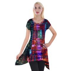 City Photography And Art Short Sleeve Side Drop Tunic