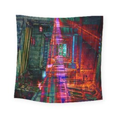 City Photography And Art Square Tapestry (small)
