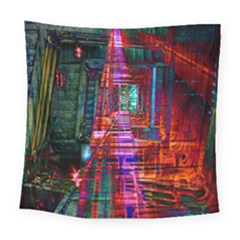 City Photography And Art Square Tapestry (large)