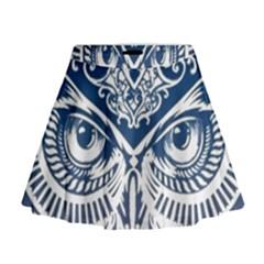 Owl Mini Flare Skirt