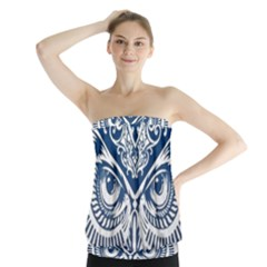Owl Strapless Top