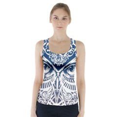 Owl Racer Back Sports Top